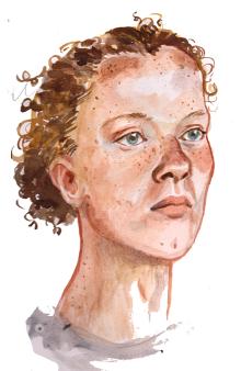 "Portrait Sitting, 8x10"""